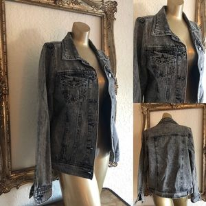 Grey acid wash Jean Jacket
